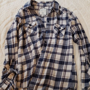 Blue and Cream Flannel